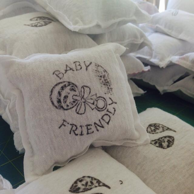Baby friendly laundry pillows