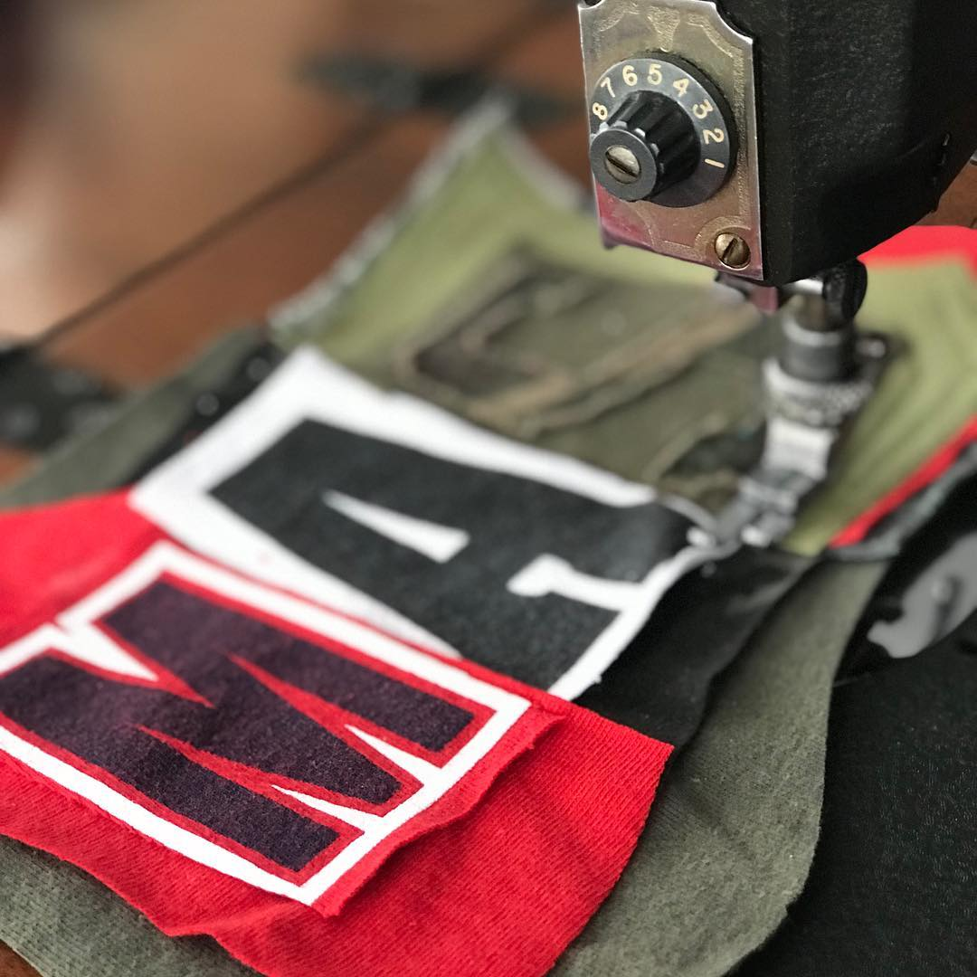Patch On Sewing Machine