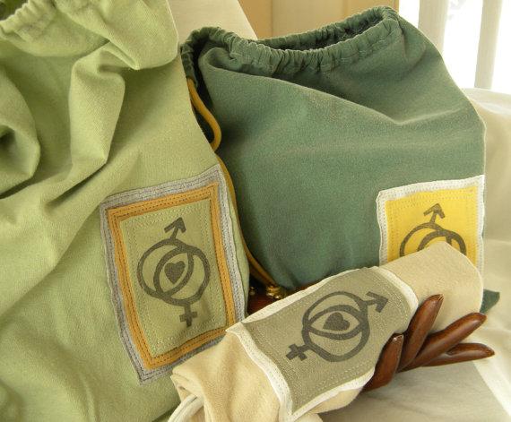 Drawstring Bags Male Female symbol