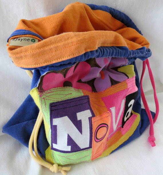 Drawstring bags with custom name